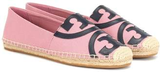 Tory Burch Leather-trimmed espadrilles