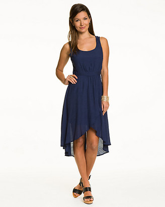 Le Château Crochet Back High-Low Dress