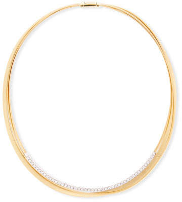 Marco Bicego Masai 18k Three-Strand Diamond Necklace