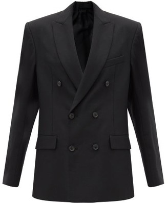 Wardrobe NYC Release 04 Double-breasted Merino Wool Blazer - Black