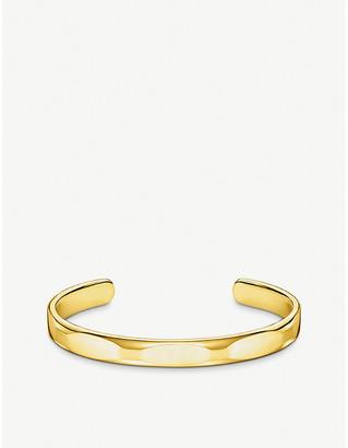 Thomas Sabo Minimalist 18ct gold-plated cuff bangle