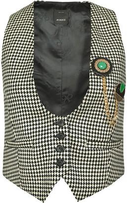 Pinko Houndstooth-Print Waistcoat