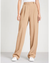 Theory Wide high-rise crepe trousers