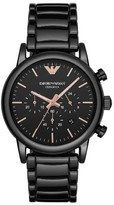 Emporio Armani Men's Ceramic Chronograph Bracelet Watch, 43Mm