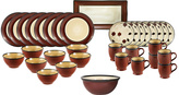 Mikasa Belmont Round Red Leaves Service for 8 With Serveware