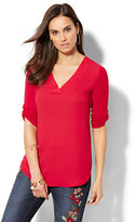 New York & Co. V-Neck Hi-Lo Top