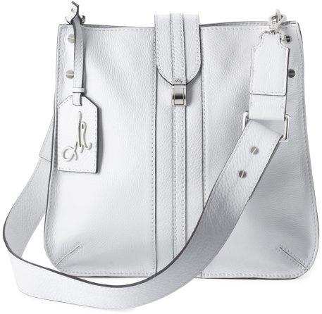 Milly Leather Handbags - White or Luggage Andie Leather Bucket
