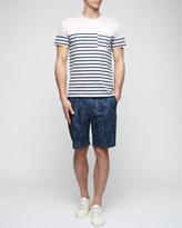Splash Print Slim Shorts