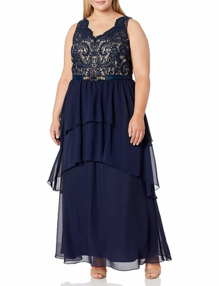 Eliza J Women's Size V-Neck Sleeveless Gown