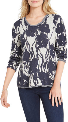 Nic+Zoe Wildflower Colorblock Sweater