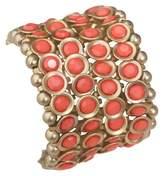Zirconite Multi-Strand Bracelet with Bezel Crystals - Pink Coral