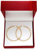 Lord & Taylor 14K Yellow Gold Tube Hoop Earrings