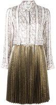 3.1 Phillip Lim pleated skirt shirt dress - women - Silk/Polyamide/Polyester/Viscose - 2