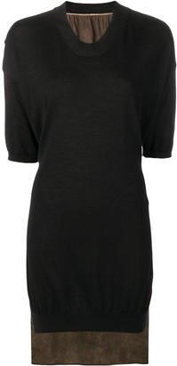 UMA WANG Contrasting Panel Jumper Dress