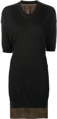 UMA WANG contrasting panel jumper dress