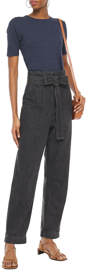 Thumbnail for your product : Rag & Bone Belted High-rise Straight-leg Jeans