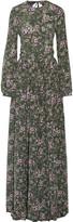 Rochas Open-back printed silk maxi dress