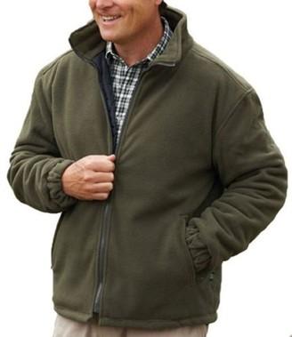 Crosshatch New Mens Warm Fleece Jacket Quilted Coat Full Zip Zipped Pockets Inside Premium Quality Walking Outdoors Countrywear