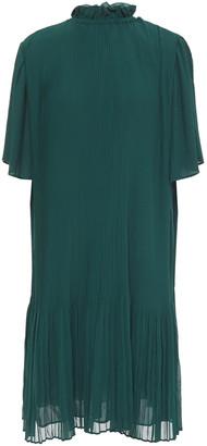 Samsoe & Samsoe Samse Samse Malie Ruffle-trimmed Plisse-chiffon Dress