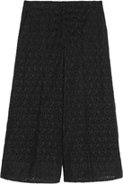 By Malene Birger Embroidered cotton-blend culottes