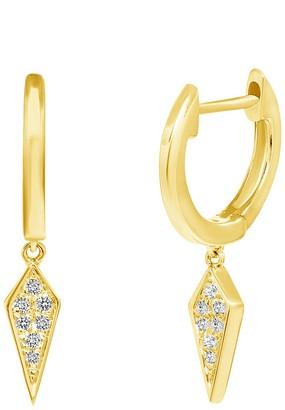 Ron Hami 14K Yellow Gold Diamond Spike Huggie Hoop Earrings - 0.04 ctw