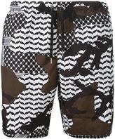 Neil Barrett camo swim shorts