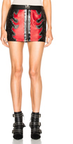 Anthony Vaccarello Fire Bicolor Mini Skirt