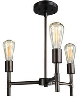 Southern Enterprises Scutari 3-Light Semi-Flush Mount Ceiling Light in Black