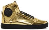 Versace Gold Medusa High-Top Sneakers