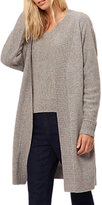 Jaeger Donegal Wool Blend Longline Cardigan, Grey