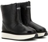 Kenzo Fur-lined Patent Leather Platform Boots