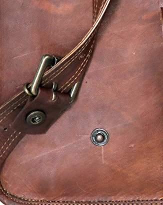 Messenger Bag Strap Replacement - Quality Genuine Goat Leather Adjustable Shoulder Strap; for Messenger
