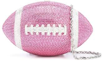 Judith Leiber Couture Football crystal clutch