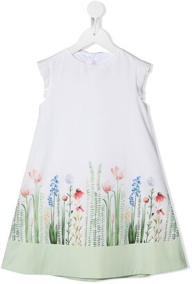 Il Gufo Cotton Flower Print Dress