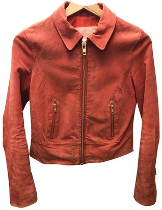 Urban Outfitters Orange Suede Jacket for Women
