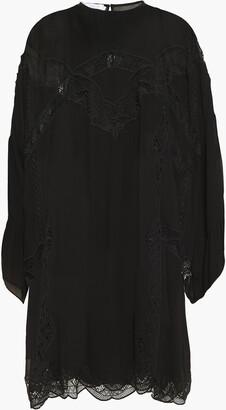 IRO Farila Macrame Lace-trimmed Georgette Mini Dress