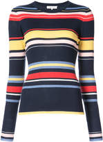 Frame rainbow stripe sweater