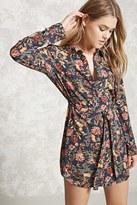 Forever 21 Floral Print Shirt Dress