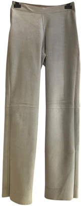 Bally Beige Leather Trousers for Women