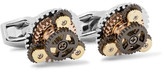 Tateossian Rotondo Gear Rhodium-Plated Cufflinks