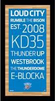 Steiner Sports Oklahoma City Thunder 19'' x 9.5'' Vintage Subway Sign