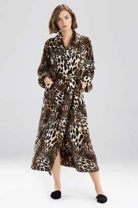 Natori Plush Leopard Robe