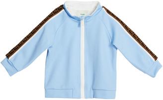 Fendi Boy's Zip-Front Track Jacket w/ FF Logo Tape, Size 12-24M