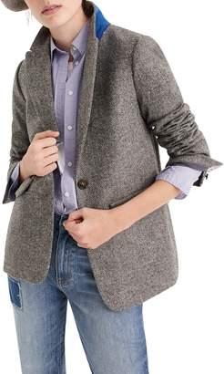 J.Crew English Herringbone Oversize Wool Blazer