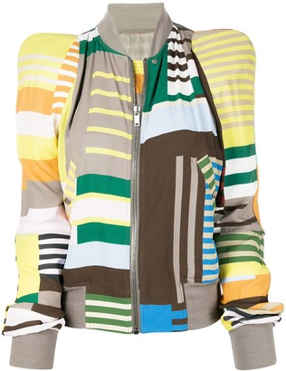 Rick Owens Colour-Block Zipped Jacket