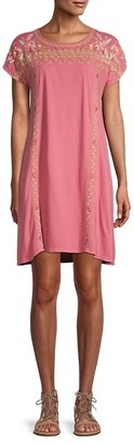 Johnny Was Rianne Embroidery T-shirt Dress