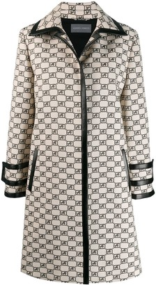 Alberta Ferretti All-Over Logo Coat
