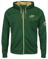 Majestic Men's Minnesota Wild Hashmarks Full-Zip Hooded Jacket