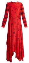 Preen Line Hebe Floral-print Handkerchief-hem Dress - Womens - Red Multi