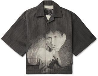 Undercover + Cindy Sherman Camp-Collar Printed Denim Shirt